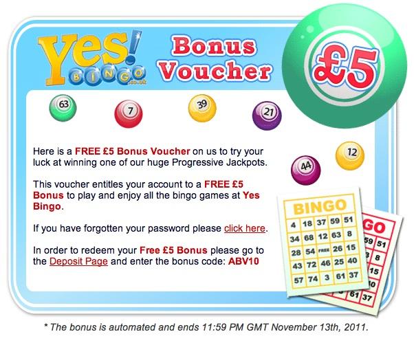 FREE £5 Bonus Voucher